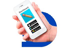 Lleva el Aula Virtual en tu móvil. Descarga la <strong>app de Blackboard</strong>