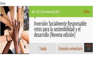 Curso online: Inversión Socialmente Responsable: retos para la sostenibilidad y el desarrollo (Novena edición)