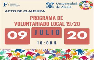 Acto de Clausura del Programa de Voluntariado Local UAH 2019/2020