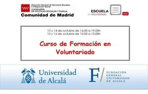 Cursos de Formación Básica en Voluntariado del 13 al 16 de octubre de 2020