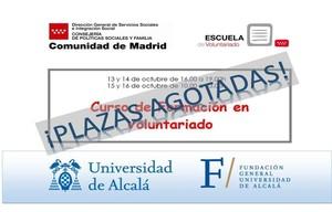 Agotadas las plazas de los Cursos de Formación Básica en Voluntariado del 13 al 16 de octubre de 2020