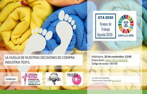 WEBINAR: La huella de nuestras decisiones de compra - Industria textil
