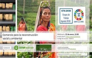 WEBINAR: Comercio para la reconstrucción social y ambiental
