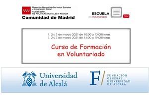 Cursos de Formación en Voluntariado del 1 al 3 de marzo