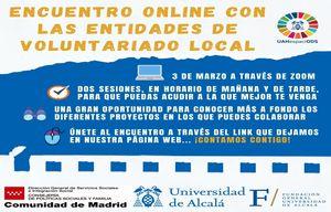3 de marzo: Encuentro online con las entidades de Voluntariado Local