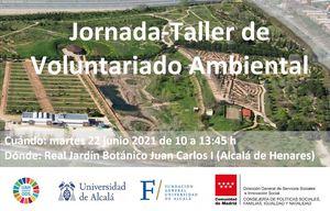 22 de junio: Jornada-Taller de Voluntariado Ambiental de la Universidad de Alcalá
