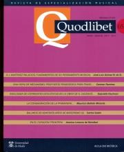 QUODLIBET 65 Mayo-Agosto 2017. Revista de Especialización Musical