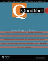QUODLIBET 67 Enero-Abril 2018.Revista de Especialización Musical