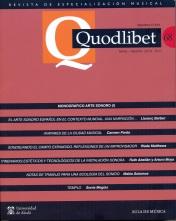 QUODLIBET 68 Mayo-Agosto 2018.Revista de Especialización Musical